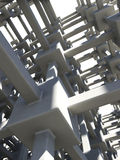 Concret linked grid Royalty Free Stock Photos