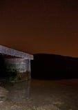 Concret pier nightscape Stock Image