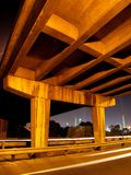 Concrete 1. Portrait photo of concrete overpass at night stock photography