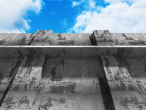 Concrete abstract architecture on cloudy sky background Royalty Free Stock Photography
