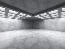 Concrete abstract architecture. Empty dark room interior. 3d render illustration Stock Photos