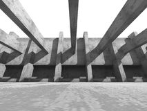 Concrete abstract architecture on white background Stock Images