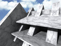 Concrete abstract modern architecture construction background Royalty Free Stock Images