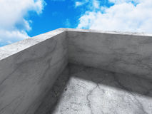 Concrete abstract modern architecture construction background Royalty Free Stock Photos