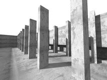 Concrete abstracte architectuurachtergrond Stedelijke Bouw Royalty-vrije Stock Foto's
