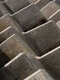 Concrete abstracte barrière Royalty-vrije Stock Afbeelding