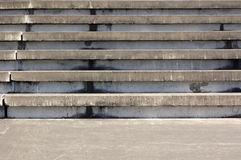 Concrete Amphitheater Seats. Concrete seats for a small outdoor amphitheater Royalty Free Stock Photography
