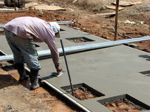 Concrete Arbeider Stock Afbeelding
