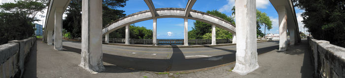 Concrete Arch Bridge Stock Image