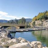 Concrete Arch Bridge & Dam Stock Photo