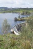 Concrete Arch Dam, Myponga Reservoir, SA - Portrait Orientation Stock Image