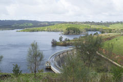 Concrete Arch Dam, Myponga Reservoir, South Australia Stock Photography