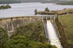 Water Released at Myponga Dam, South Australia Royalty Free Stock Photos