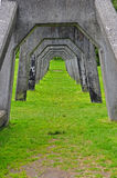 Concrete arch way. Stock Image