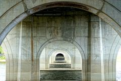 Concrete Arches. With a depth of field perspective Royalty Free Stock Image