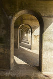 Concrete arches manmade structure, abstract pattern Royalty Free Stock Images