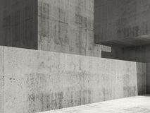 Concrete architecturat background, 3d art Royalty Free Stock Photography