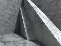 Concrete architecture background. Abstract cube construction. 3d render illustration Stock Image