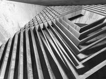 Concrete architecture background. Abstract empty dark room Stock Photo