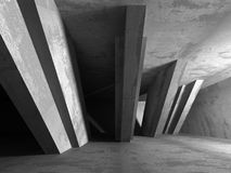 Concrete architecture background. Abstract empty dark room Stock Photography