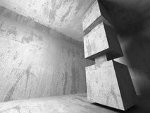 Concrete architecture background. Abstract empty dark room Stock Photos