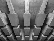 Concrete architecture background. Abstract empty dark room Royalty Free Stock Photos