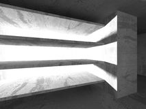 Concrete architecture background. Abstract empty dark room Royalty Free Stock Images