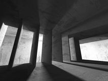 Concrete architecture background. Abstract empty dark room Royalty Free Stock Photo
