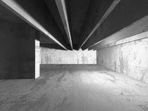Concrete architecture background. Abstract empty dark room Royalty Free Stock Photography