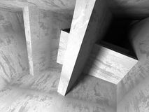 Concrete architecture background. Abstract empty dark room Stock Images