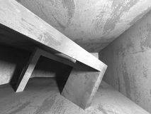 Concrete architecture background. Abstract empty dark room Royalty Free Stock Image