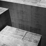 Concrete  architecture background, 3d Royalty Free Stock Photo