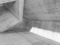 Concrete architecture background, 3d render Royalty Free Stock Photo