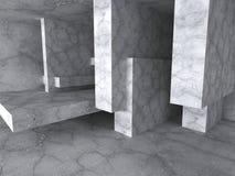 Concrete architecture background. Empty room interior. 3d render illustration Stock Illustration