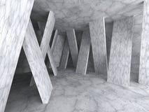 Concrete architecture background. Empty room interior. 3d render illustrration Stock Illustration