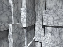 Concrete architecture background. Geometric wall design under su Royalty Free Stock Image