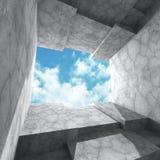 Concrete architecture futuristic construction background Stock Photo