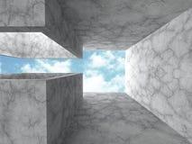 Concrete architecture futuristic construction background Royalty Free Stock Photos