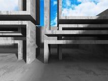 Concrete architectuurachtergrond Abstract de bouwontwerp Royalty-vrije Stock Foto's