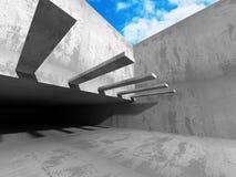 Concrete architectuurachtergrond Abstract de bouwontwerp Royalty-vrije Stock Foto