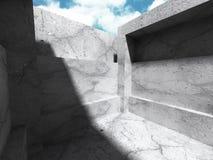 Concrete architectuurachtergrond Abstracte de Bouw moderne desig Royalty-vrije Illustratie
