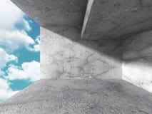 Concrete architectuurachtergrond Abstracte de Bouw moderne desig Vector Illustratie
