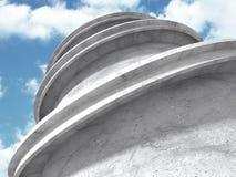 Concrete architectuurachtergrond Abstracte de Bouw moderne desig Stock Illustratie