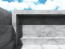 Concrete architectuurachtergrond Abstracte de Bouw moderne desig Royalty-vrije Stock Foto