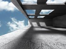 Concrete architectuurachtergrond Abstracte de Bouw moderne desig Stock Foto