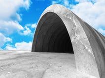 Concrete architectuurachtergrond Abstracte de Bouw moderne desig Stock Afbeeldingen