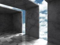 Concrete architectuurachtergrond Abstracte de Bouw moderne desig Stock Fotografie