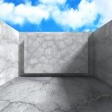 Concrete architectuurachtergrond Abstracte de Bouw moderne desig Royalty-vrije Stock Afbeelding