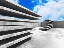 Concrete architectuurachtergrond Abstracte de Bouw moderne desig Royalty-vrije Stock Foto's