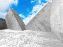 Concrete architectuurachtergrond Abstracte de Bouw moderne desig Stock Foto's